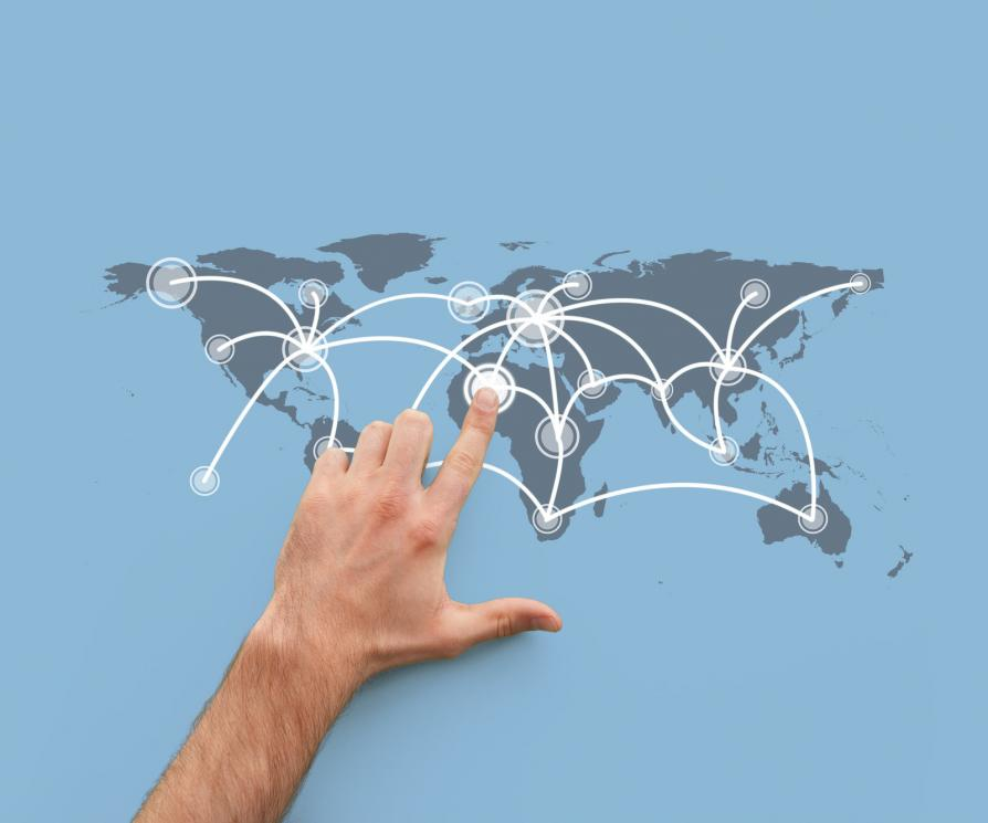 global connection outsourcing concept image